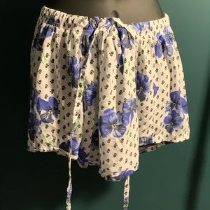 ASOS white/purple floral pajama shorts (6/$14)